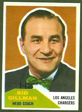 Sid Gillman 1960 Fleer football card