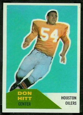 Don Hitt 1960 Fleer football card