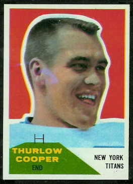 Thurlow Cooper 1960 Fleer football card