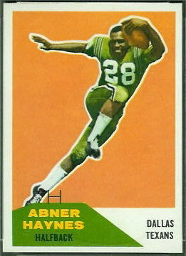 Abner Haynes 1960 Fleer football card