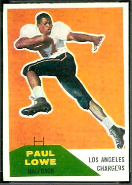 Paul Lowe 1960 Fleer football card
