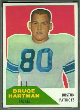 Bruce Hartman 1960 Fleer football card