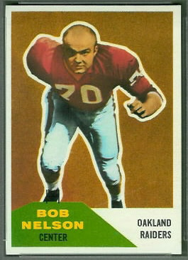 Bob Nelson 1960 Fleer football card