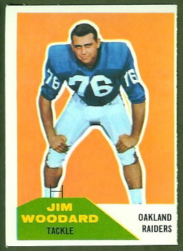 Jim Woodard 1960 Fleer football card