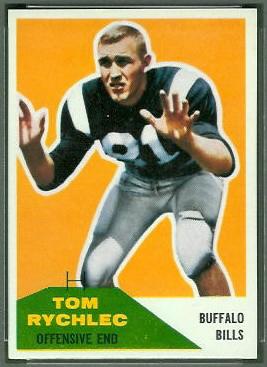 Tom Rychlec 1960 Fleer football card