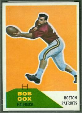Bob Cox 1960 Fleer football card