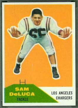 Sam DeLuca 1960 Fleer football card