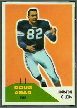 Doug Asad 1960 Fleer football card
