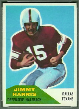 Jimmy Harris 1960 Fleer football card