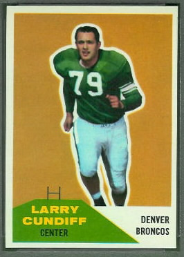 Larry Cundiff 1960 Fleer football card