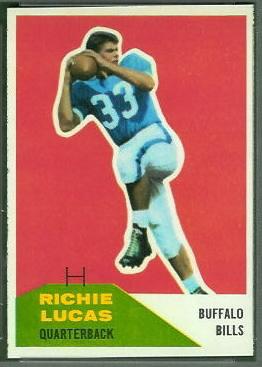 Richie Lucas 1960 Fleer football card