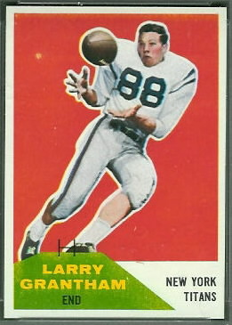 Larry Grantham 1960 Fleer football card
