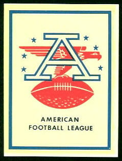 AFL Logo 1960 Fleer AFL Team Decals football card