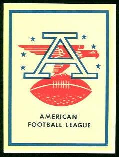 AFL Logo 1960 Fleer AFL Team Decals football card