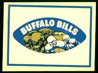 Bills Logo 1960 Fleer AFL Team Decals football card