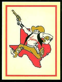 Texans Logo 1960 Fleer AFL Team Decals football card