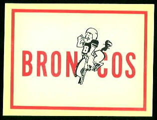 Broncos Logo 1960 Fleer AFL Team Decals football card