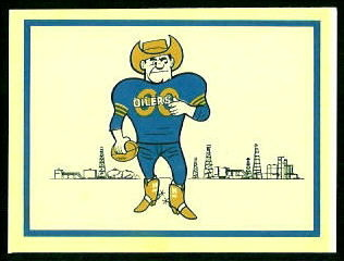 Oilers Logo 1960 Fleer AFL Team Decals football card