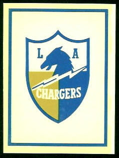 Chargers Logo 1960 Fleer AFL Team Decals football card