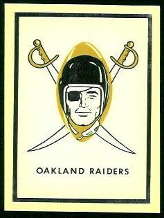 Raiders Logo 1960 Fleer AFL Team Decals football card