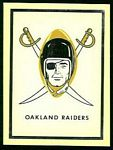1960 Fleer AFL Team Decals Raiders Logo
