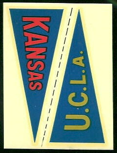 Kansas - UCLA 1960 Fleer College Pennant Decals football card