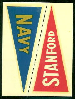 Navy - Stanford 1960 Fleer College Pennant Decals football card