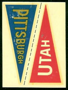 Pittsburgh - Utah 1960 Fleer College Pennant Decals football card