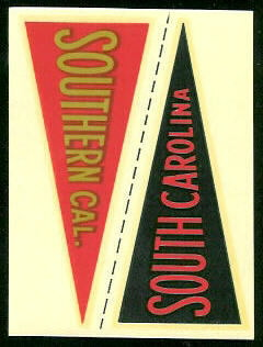 South Carolina - USC 1960 Fleer College Pennant Decals football card