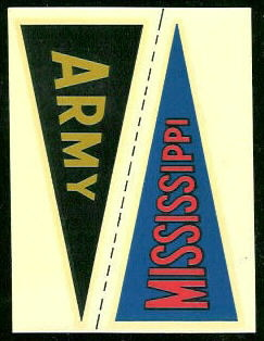 Army - Mississippi 1960 Fleer College Pennant Decals football card
