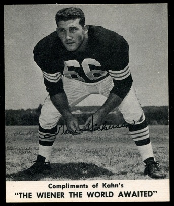 Gene Hickerson 1960 Kahns football card