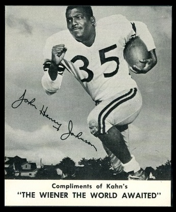 John Henry Johnson 1960 Kahns football card