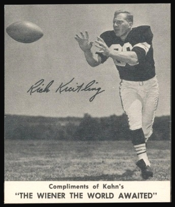 Rich Kreitling 1960 Kahns football card