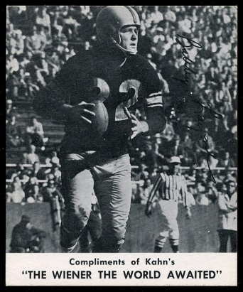 Bobby Layne 1960 Kahns football card