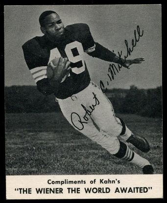 Bobby Mitchell 1960 Kahns football card