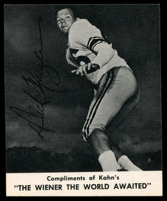 Dick Moegle 1960 Kahns football card