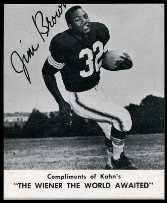 Jim Brown 1960 Kahns football card