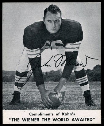 John Morrow 1960 Kahns football card