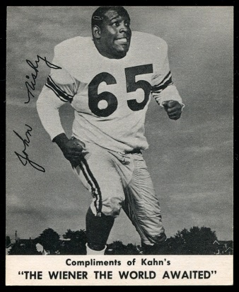 John Nisby 1960 Kahns football card