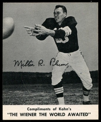 Milt Plum 1960 Kahns football card