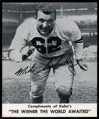 Mike Sandusky 1960 Kahns football card