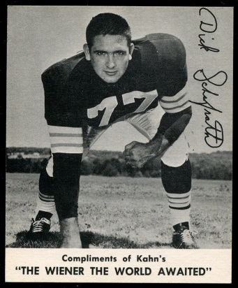 Dick Schafrath 1960 Kahns football card