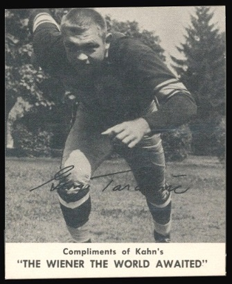 George Tarasovic 1960 Kahns football card