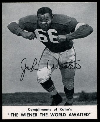 John Wooten 1960 Kahns football card