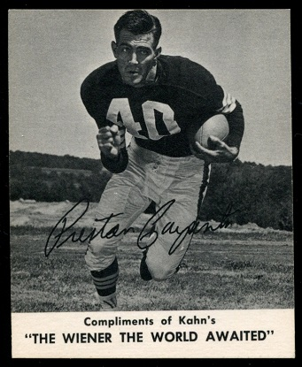 Preston Carpenter 1960 Kahns football card