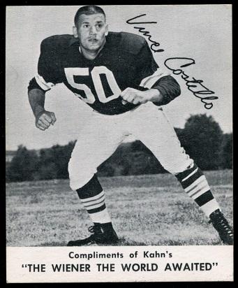 Vince Costello 1960 Kahns football card