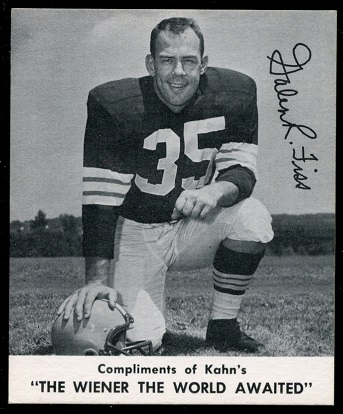 Galen Fiss 1960 Kahns football card