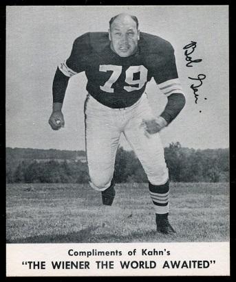Bob Gain 1960 Kahns football card