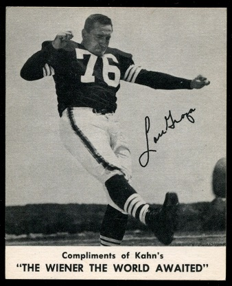 Lou Groza 1960 Kahns football card