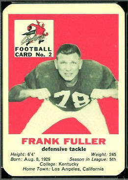 Frank Fuller 1960 Mayrose Cardinals football card